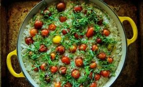 """אורז """"אחד אחד"""" עם עגבניות שרי ובזיליקום - אורז """"אחד אחד"""" לכבוד שבת עם בזיליקום"""