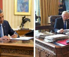 מצא את ההבדלים - טראמפ או אובמה: מה אומר עליך השולחן שלך