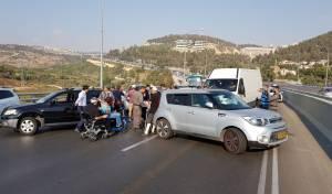 מחאת הנכים: כביש 1 נחסם לתנועה - מי-ם