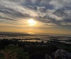 תיעוד עוצר נשימה: השקיעה בהרי הכרמל