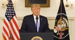 """טראמפ: """"הפורעים לא מייצגים את אמריקה"""""""