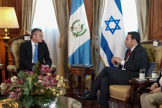 נשיא גואטמלה יגיע לחנוכת השגרירות בי-ם