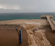 שיטפון בחוף אילת בתחילת החודש