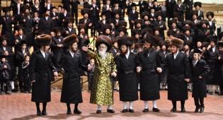 תיעוד: ה'שבע ברכות' המרכזי בחצר ויז'ניץ