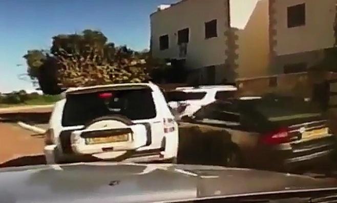 צפו: מרדף וירי אחר גנב רכב