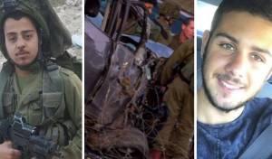 """זיו דאוס ונתנאל קהלני הי""""ד לצד זירת הרצח - המחבל שדרס שני חיילים מואשם ברצח"""