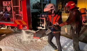 שריפה בבניין: משפחות חרדיות מחולצות