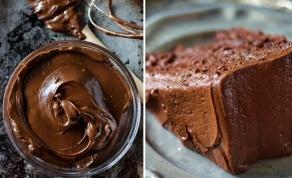עוגת שוקולד בציפוי מוס שוקולד ואגוזים - חצי עוגת שוקולד, חצי מוס שוקולד פרווה מפנק לשבת