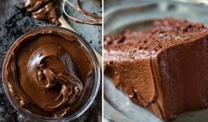 עוגת שוקולד בציפוי מוס שוקולד ואגוזים