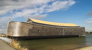 דגם תיבת נח בהולנד - הסערה בהולנד גרמה לדגם של תיבת נח להיסחף אל הים