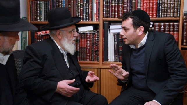 """יעקב בצלאל עם הגר""""ש כהן"""