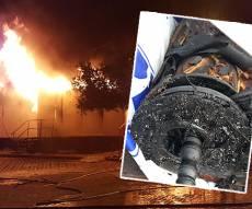 האש בבית הכנסת וגווילי ספרי התורה - מחריד: בית הכנסת נשרף עם ספרי התורה
