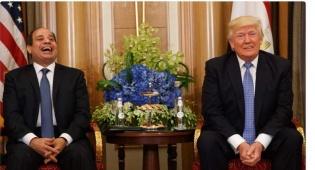 א-סיסי, פרץ בצחוק - טראמפ הסכים למחמאה - סיסי פרץ בצחוק