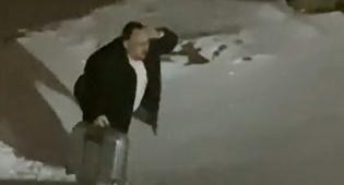 ליפא שמלצר נתקע בשלג וצעד בקור; תיעוד