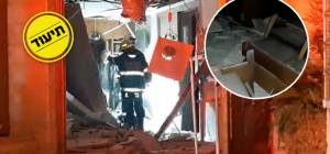 ההרס בתוך בית הכנסת
