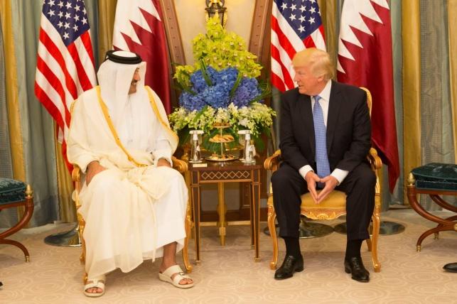 האמיר בפגישתו עם טראמפ בביקורו בסעודיה