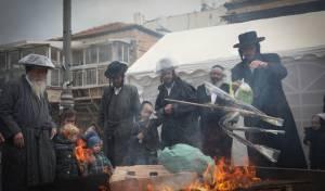 """בגשם ובקור הירושלמי: שריפת חמץ תשפ""""א"""