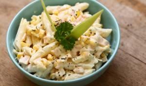 מחסלים את החמץ: פסטה מוקרמת פרווה עם תירס ובצל ירוק