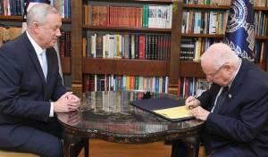 גנץ מקבל את המנדט מהנשיא