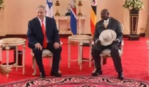 נתניהו באוגנדה, בה הוא נפגש עם המנהיג הסודני