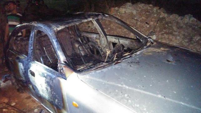רכב פלסטיני שהוצת בידי המורשעים