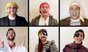להקת Six13 בקליפ פסח המסורתי: פסח פיראטי