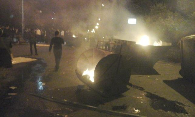 המהומות בבית וגן, הלילה