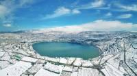 תמונות רחפן: השלג עדיין מכסה את הצפון