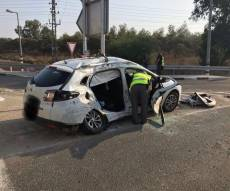 המונית בזירת התאונה