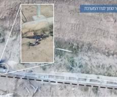 """תיעוד: צה""""ל סיכל פיגוע בגבול רצועת עזה"""