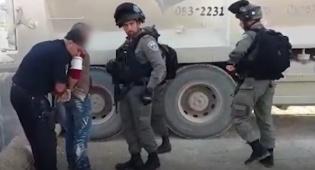 פלסטיני נמלט - ונתפס בתוך ארגז במחצבה