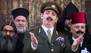 שחזור הגעת הגנרל אלנבי לירושלים - שלטי הצניעות הוסרו, ואלנבי הגיע לשער יפו