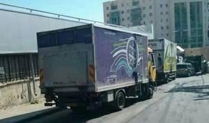 משאית בירושלים, צילום אילוסטרציה