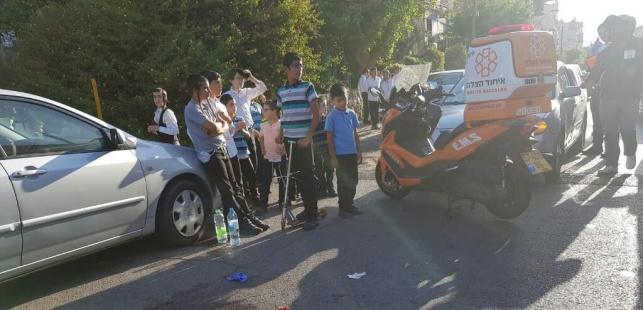 נער חרדי נפל מאופניים חשמליים ונפצע