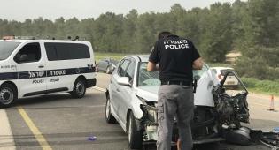 בגלל עקיפה: תאונה קטלנית ליד קרית גת