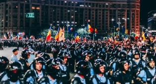 ההפגנה האלימה בבוקרסט