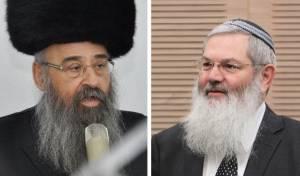 סגן השר אלי בן דהן והרב אברהם יוסף לייזרזון