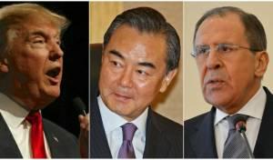 טראמפ ושרי החוץ של סין ורוסיה