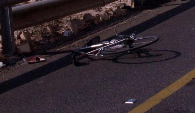 רוכב אופניים מעורב בתאונה