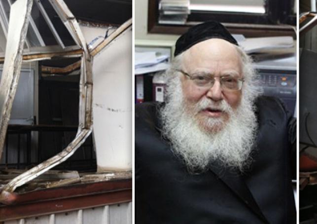 הרב צבי ביאלוסטצקי ומבנה בית הכנסת ההרוס