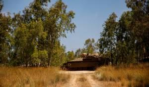 טנק ליד רצועת עזה