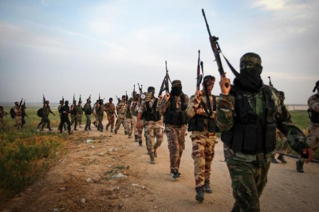 מחבלי חמאס בקרבת הגבול