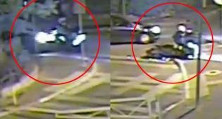 פגע עם רכבו ברוכב אופנוע ופצע אותו • צפו