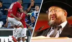 הרב יהודה דרעי ושחקני הפועל באר שבע