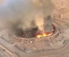 וואו: רחפנים הפציצו אצטדיון עמוס בנשק • צפו