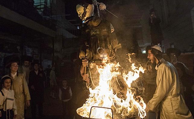 שריפת בובת החייל במאה שערים