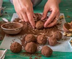 טראפלס שוקולד מ-3 מרכיבים בלבד