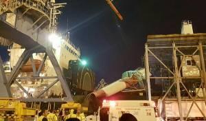 קריסה שנייה תוך שבוע: מנוף קרס על אונייה