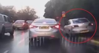 כך הנהג הישראלי מנסה לעקוף פקק