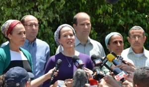 משפחת פרנקל עם משפחות החטופים